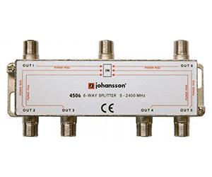 4506 - Разветвитель на 6 отводов/ 6 DC / 5-2340 MHz