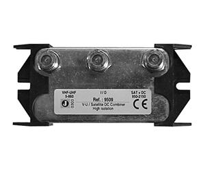 9509 - Сумматор SAT / TV с высокой изоляцией, c 1  DC вх