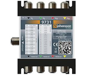 9731 - Мультисвитч DSCR каскадируемый  4 SAT вх, 1 RF SCR вых (16 абонентов)