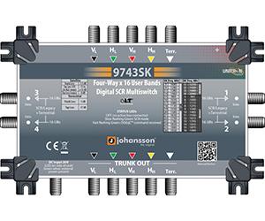 9743 - Мультисвитч DSCR каскадируемый 4 SAT + 1 TERR вх/ вых (пассив), 4 RF SCR вых/64 абонента