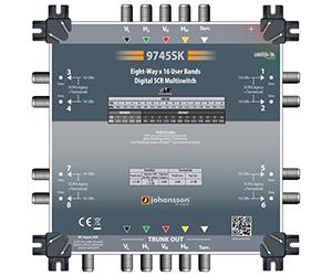 9745 - Мультисвитч DSCR каскадируемый 4 SAT + 1 TERR вх/ вых (пассив), 8 RF SCR вых/128 абонентов