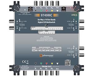 9749 - Мультисвитч DSCR каскадируемый 4 SAT + 1 TERR вх/ вых (актив), 6 RF SCR вых/96 абонентов