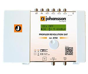 6702 - Profiler Revolution SAT - Программируемый фильтр усилитель 6 входов:  SAT/ FM / 4 x VHF-UHF с конвертацией